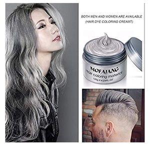 Silver Gray Temporary Hair Dye Wax Mud